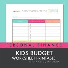 Personal Financial Budget Sheet Personal Finance Budget Worksheets Radiovkm Tk