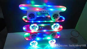 speakers led. best cool skateboard scooter design colorful led light speaker bluetooth mini wireless stereo speakers fm radio mp3 music player 4 inch 4x10