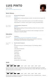 Multimedia Designer Resume Samples - Visualcv Resume Samples Database