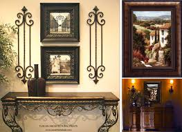 old world framed nice tuscan wall art