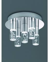 bathroom lights. CF5764 LED Bathroom 5 Light Ceiling - Satin Nickel Lights H