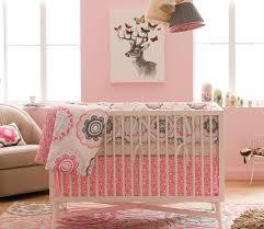 dwellstudio zinnia rose crib set