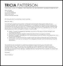 Strength and Conditioning Coach Cover Letter Sample