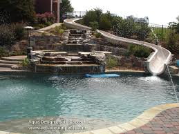 inground pools with waterfalls and slides. Aqua Design Pools Inground With Waterfalls And Slides A