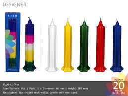 Designer Candles Wholesale India Designer Candle Star