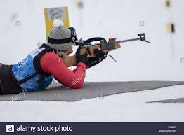 U.S. Army Warrant Officer Candidate Ivy Fischer, Idaho National Guard,  competes in the 2019 Chief, National Guard Bureau Biathlon Championship  Open Women's Novice Pursuit Race, Camp Ethan Allen Training Site, Jericho,  Vt.,