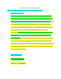9 10 Examples Of Annotated Bibliography Apa Sacxtracom