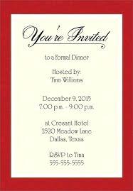 Formal Dinner Invitation Sample Interesting Free Dinner Party Invitation Templates Formal Invite Template