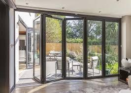 fire proof aluminium bifold patio doors residential folding doors with louver inside