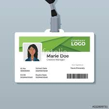 company id card templates