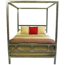 Full Canopy Bed Frame Canopy Steel Bed Frame Full Size Wood Canopy ...