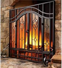 fl fireplace screen plow hearth with regard to screens glass doors designs 5