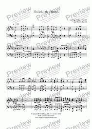 hallelujah piano sheet music hallelujah chorus piano duet download sheet music pdf