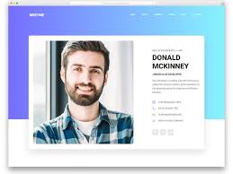 resume web templates 13 free bootstrap html resume templates for personal cv website 2019