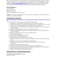 Cosmetologist Resume Cosmetology Resume Samples Fungramco 61
