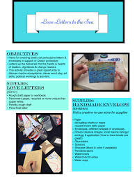 Lesson Plan Love Letters To The Sea Lost Art Of Love Letters