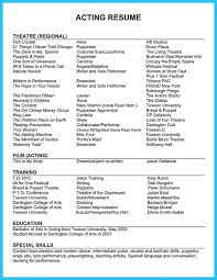awesome Outstanding Acting Resume Sample to Get Job Soon,