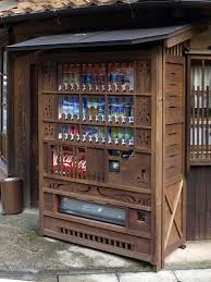 Wooden Vending Machine Delectable Camouflaged Japanese Wooden Drink Vending Machine Shimane Japan