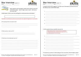 Star Questions Star Interview Worksheets Skills Workshop