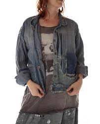 Magnolia Pearl Tucker Jacket - Washed Indigo
