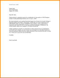 Sample Of Email Cover Letter With Resume Attached Job Application