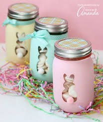 How To Decorate Canning Jars Easter Bunny Mason Jars an adorable and easy Easter craft 38