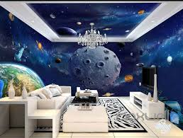 3D Earth Planet Ceiling Entire Room ...