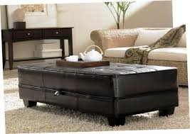 leather storage ottoman coffee table collection enchanting leather ottoman storage popular coffee throughout table with