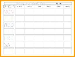 Free Printable Monthly Menu Planner Template Weekly Online Meal