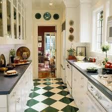 Elegant Schachbrettmuster Auf Dem Fußboden Schachbrettmuster Boden Schmale Küchen  Interieurs Eng Design