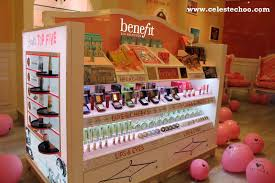 set limited edition sephora msia benefit cosmetics msia makeup display