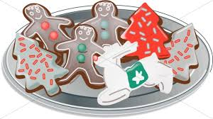 plate of christmas cookies clipart. Plate Of Christmas Cutout Cookies With Clipart