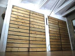 steel frame slatted closet doors from one forty three this is a nice farmy industrial look