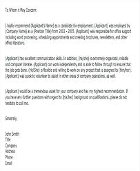 Letter To Business Template Business Recommendation Letter Standard Business Format