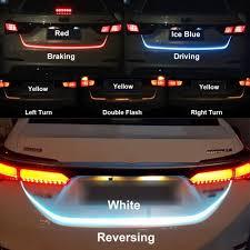 How To Install Flex Led Lights In Car Car Led Flexible Strip Tail Light Bar Brake Trunk Running