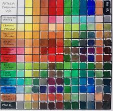 Watercolor Color Chart Arteza Watercolours Color Chart Wetcanvas
