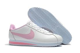 womens nike cortez leather white pink 807471 178 running shoes