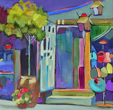 open door painting. Contemporary Urban Scene Painting By Carolee Clark Open Door F