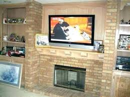 how to mount a tv on a brick wall mounting on brick installing over fireplace hang