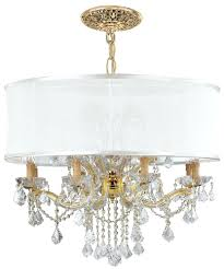 full image for floor lamps chandelier style gold chandelier dd w antique white silk shade drum