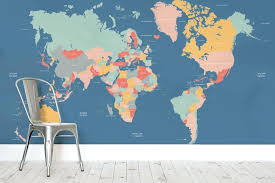 navigator kids world map wall mural world wall map mural world wall map wall mural decal wall map mural