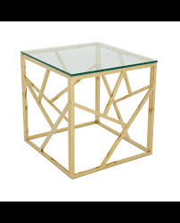 gold malibu square coffee table available to hire