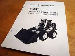 kubota service manual new holland l455 l553 l555 kubota engine loader skidsteer service repair manual