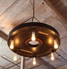 chandelier vintage industrial hanging pendant lighting six edison bulbs for at 1stdibs