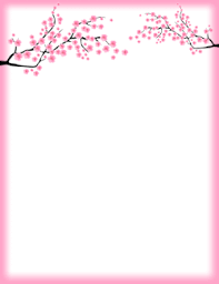 Floral Borders For Word Free Spring Borders Clip Art Page Borders And Vector Graphics