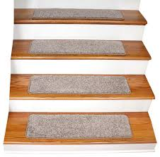 tape free non slip carpet stair treads set of 15 beige contemporary