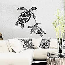 sea turtle wall art sticker