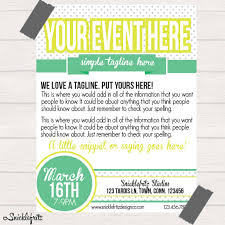 Simple Event Flyers Simple Flyers Simple Lime Green Event Flyer Personalized Printable