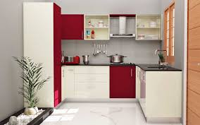 U Shape Laminate High Gloss Fiesta Rose Frosty White Final Kitchen Counter  Decorating Ideas Pictures