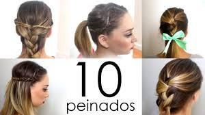 10 Peinados F Ciles Y R Pidos Para Cabello Corto O Largo Youtube
